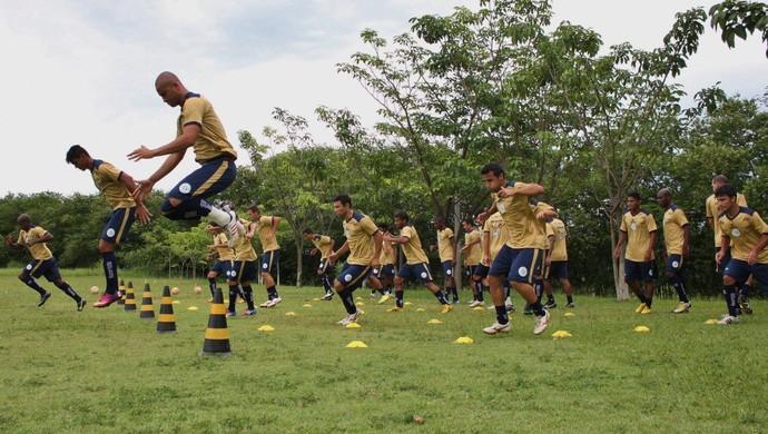 Elenco do São Bento treina de olho na estreia da Série A2 do Paulista (Foto: Jesus Vicente/ São Bento)