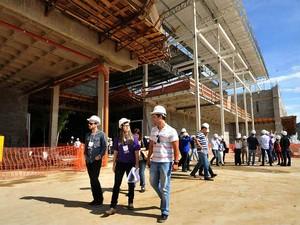 Visita obra shopping Zona Norte (Foto: Humberto Nicoline/ Divulgação)