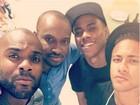 Rafael Zulu posa ao lado de Neymar e Thiaguinho