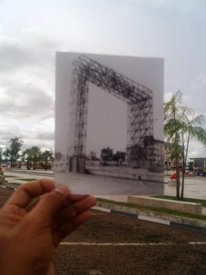 Portal do Milênio é um monumento situado na Praça das Águas, construído no fim do segundo milênio, em Boa Vista (Foto: Romerson Martins/Arquivo Pessoal)