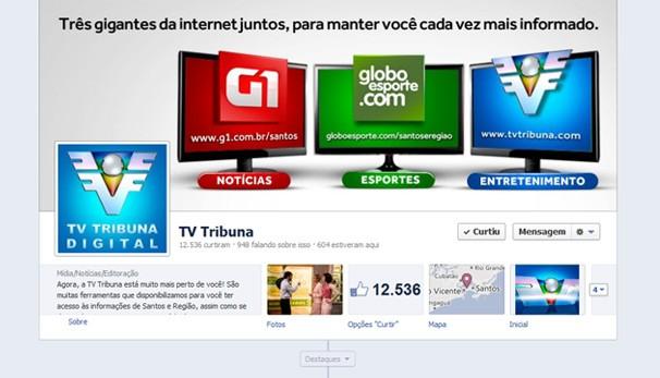Fan page (Foto: Arte / TVTribuna)