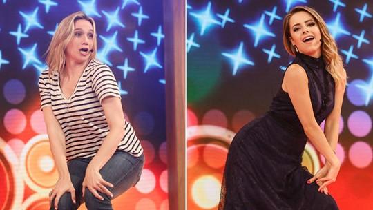 Sandy e Fernanda Gentil dançam funk no 'Tamanho Família' e surpreendem fãs na web