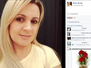 Balconista de 30 anos foi morta com seis tiros em Piracicaba (Foto: Reprodução/Facebook)