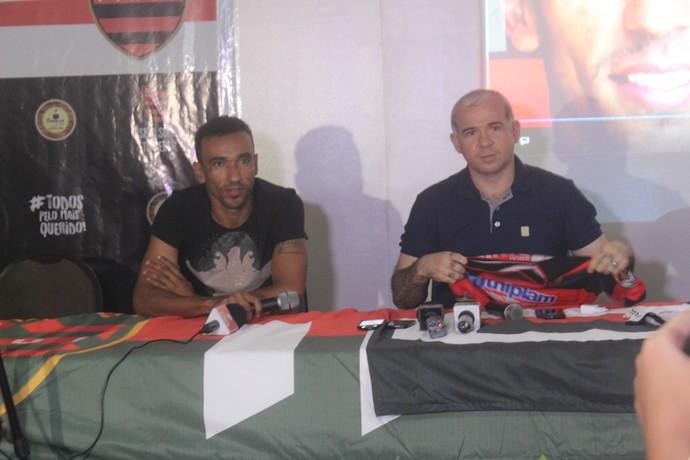 Eduardo e Tiago Vasconcelos Flamengo-PI (Foto: Stephanie Pacheco)