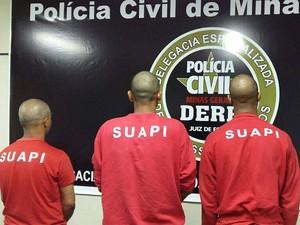 Prisão em caso de latrocínio em Juiz de Fora (Foto: Polícia Civil/Divulgação)