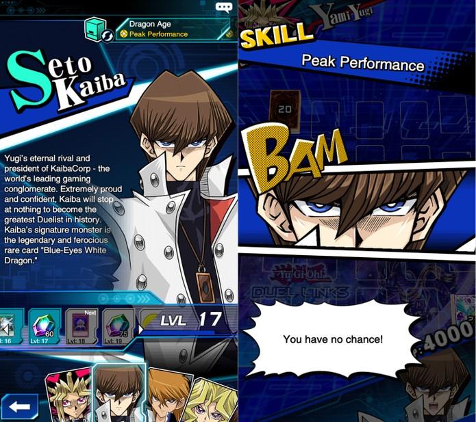 Yu-Gi-Oh! Duel Links: Kaiba conta com skills que favorecem monstros fortes como o BEWD (Foto: Reprodução/Vinícius Mathias)