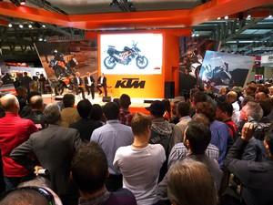 estande KTM no Salão de Milão (Foto: Roberto Agresti/G1)