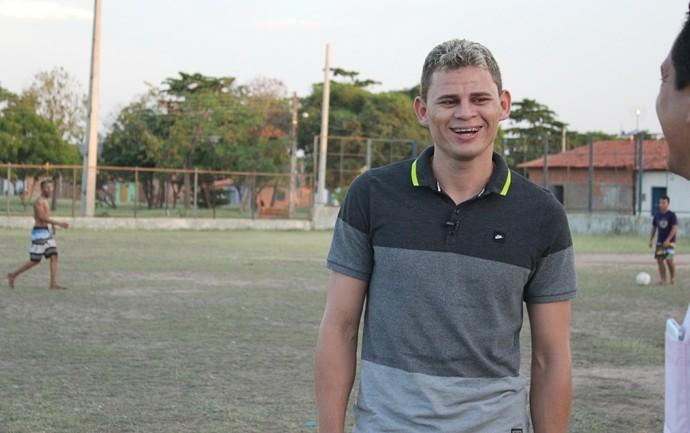 Jonas Corinthians em Teresina (Foto: Renan Morais/GloboEsporte.com)
