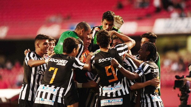 Cicero gol Santos x São Paulo (Foto: Marcos Ribolli / Globoesporte.com)
