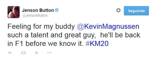 Mensagem de Jenson Button (Foto: Reprodução)