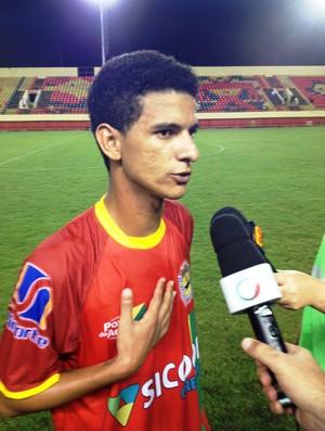 Atacante Josy do Galvez fez o gol da vitória contra o Atlético. (Foto: Ingreson Derze/GE/AC)