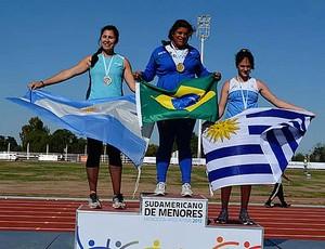 Atletismo Izabela Rodrigues da Silva Sul-americano de menores (Foto: Moacir Camara / CBAt)