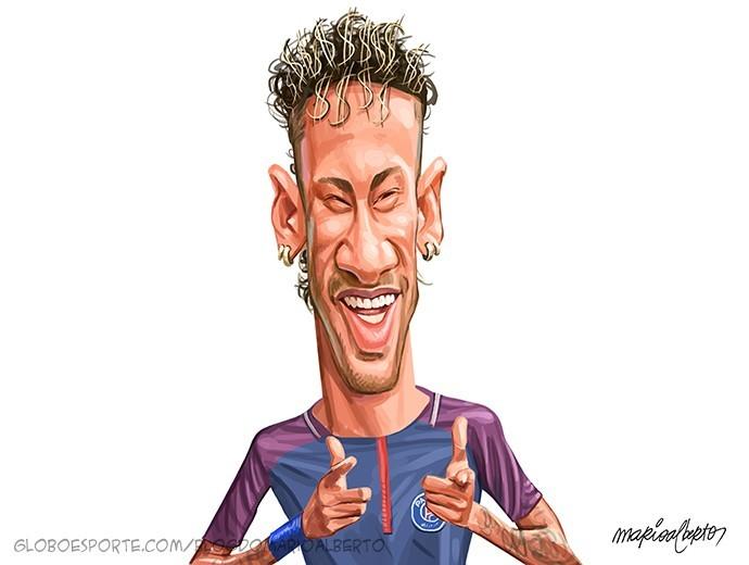 Charge Neymar Mario Alberto Ousadia e Alegria