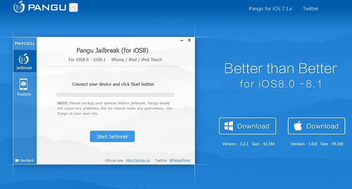 Baixando o aplicativo Pangu para fazer o jailbreak (Foto: Reprodução/Edivaldo Brito)