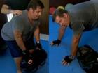 Leandro Hassum mostra como já emagreceu 25 quilos usando 'sandbag'
