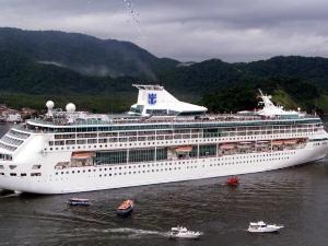 'Splendour of the Seas' encerra temporada de cruzeiros (Foto: Divulgação / Prefeitura de Santos)