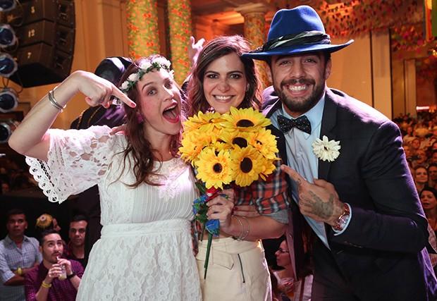 Luana Piovani, Carol Sampaio e Pedro Scooby (Foto: Reginaldo Teixeira/CS Eventos Divulgação)