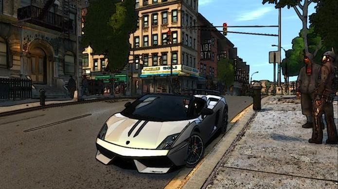 GTA 4 fica com um visual de desenho animado japonês graças a mod (Foto: Reprodução/GTAinside)