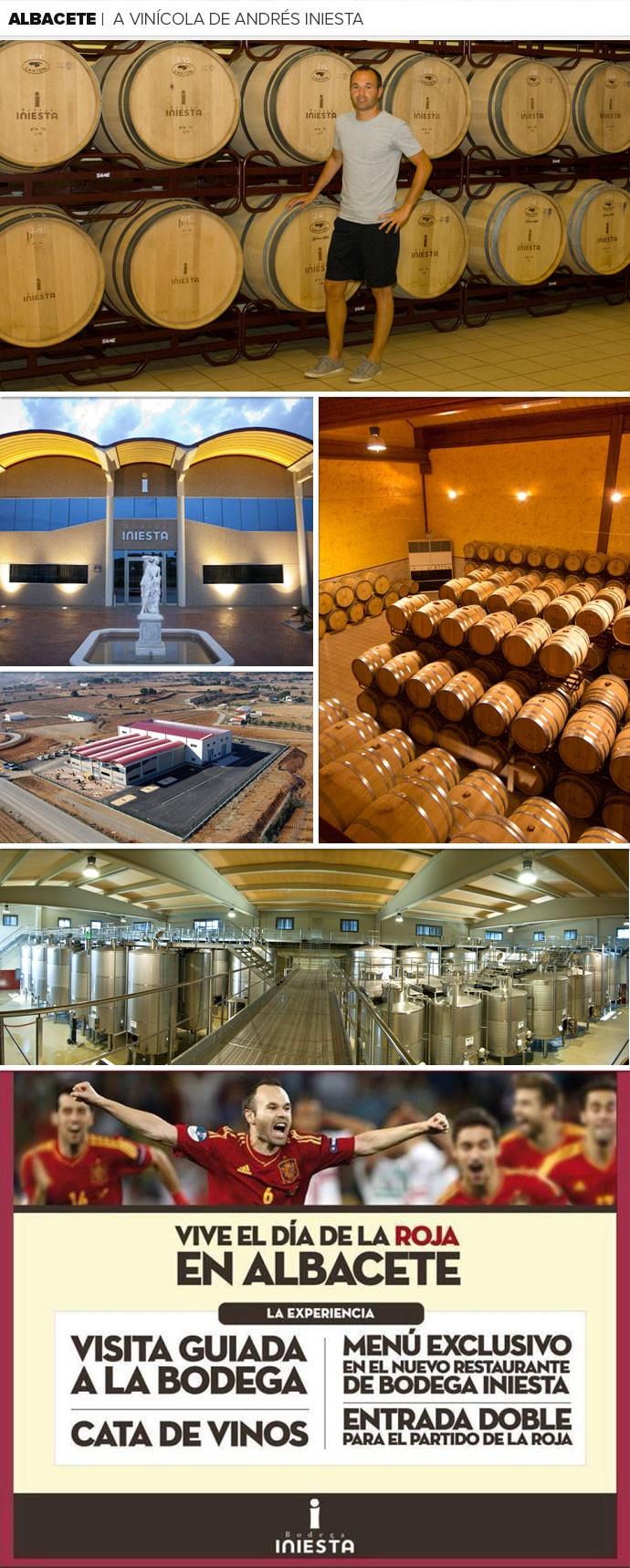 MOSAICO a vinícola de Andrés Iniesta (Foto: Reprodução site oficial Bodega Iniesta)