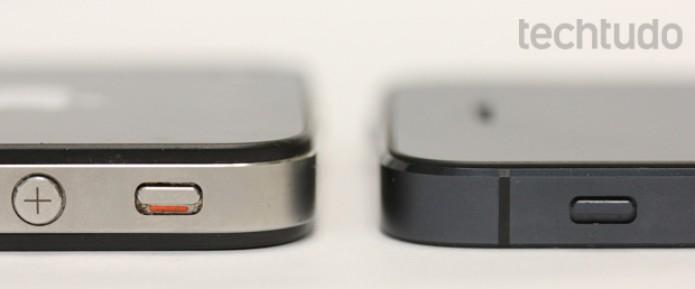 A Apple também deixou o iPhone 5 mais fino (Foto: Allan Melo / TechTudo)