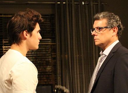 Rodrigo é direto com Miguel: 'Você agiu errado com a Ciça'