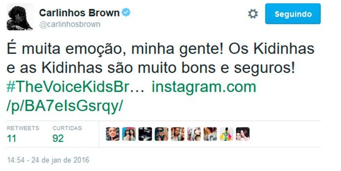 Brown também se manifestou neste domingo e foi só carinho com as crianças (Foto: Gshow)