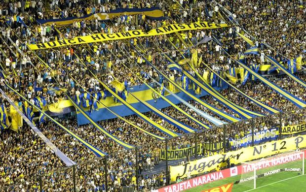Torcida do Boca Juniors na Bombonera (Foto: Cahê Mota / GLOBOESPORTE.COM)