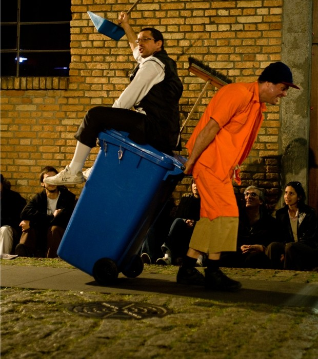 Espetáculo Quixote, no Itaú Cultural (Foto: Tainá Azeredo)