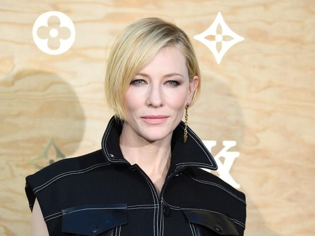Cate Blanchett em evento de moda em Paris, na França (Foto: Gabriel Bouys/ AFP)