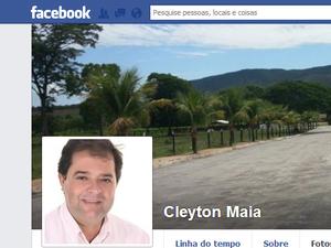 Cleyton Maia, ex-prefeito de Ponte Alta do Tocantins, é uma das vítimas (Foto: Reprodução/Facebook)