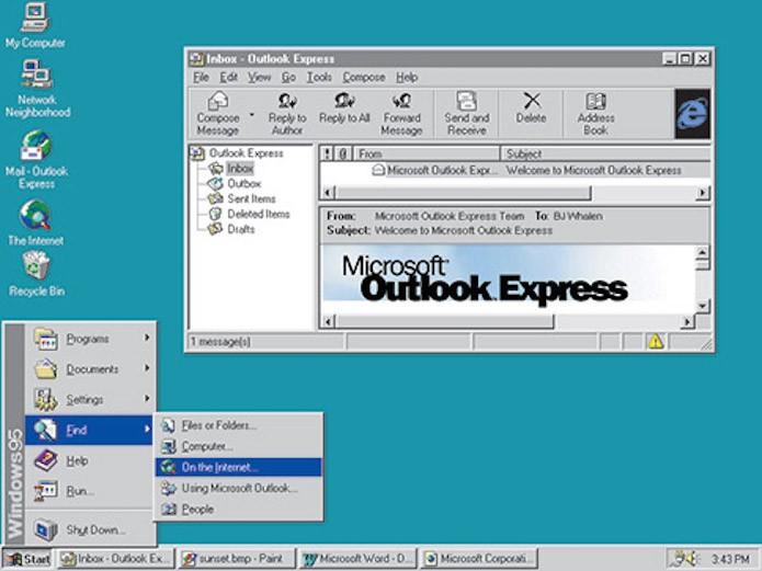 Windows 95 marca o inicio da tradicional interface do Windows (Foto: Divulgação/Microsoft)