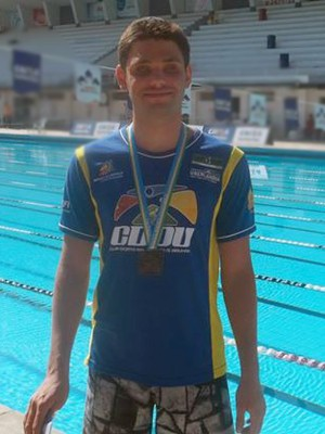 Felipe Tavares Uberaba deficiente visual natação recordista (Foto: Felipe Tavares/ Arquivo Pessoal)