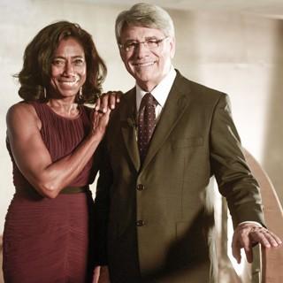 Glória Maria e Sergio Chapelin lembram os fatos mais marcantes de 2013 (Foto: Renato Rocha Miranda/Globo)