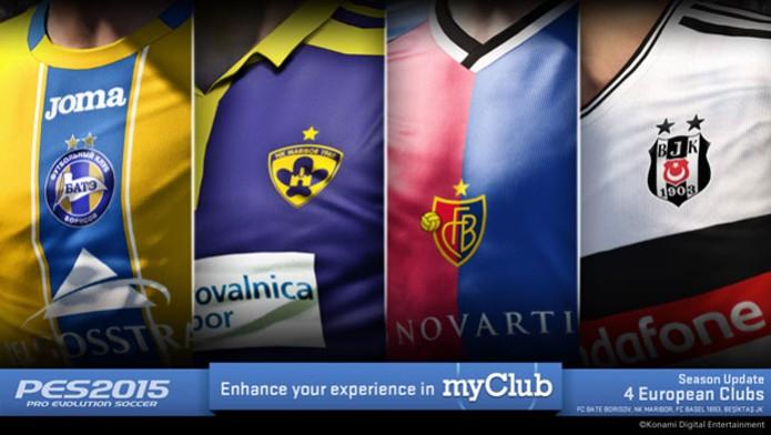 Clubes serão incluídos no PES 2015 (Foto: Divulgação)
