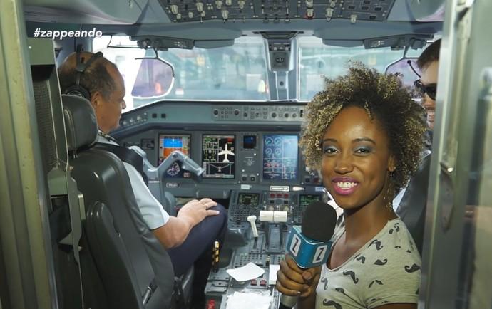 Equipe do 'Zapp' embarca em voo comercial (Foto: Rede Amazônica)