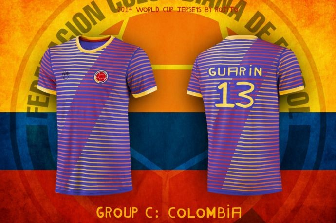Blog da Copa - design camisa da Colombia