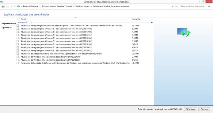 Problemas no Windows Update impedem atualização do computador (Foto: Reprodução/Windows)