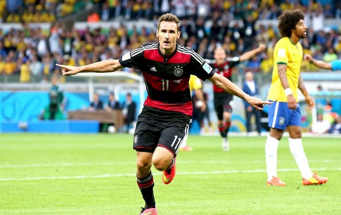 Klose comemoração Brasil x Alemanha (Foto: Getty Images)