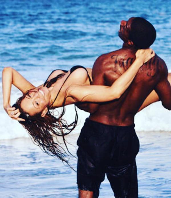 A foto antiga de Nick Cannon e Mariah Carey pubicada pelo ator nas redes sociais (Foto: Instagram)
