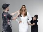 Ivete Sangalo mostra seu poder com look decotado em bastidor de ensaio