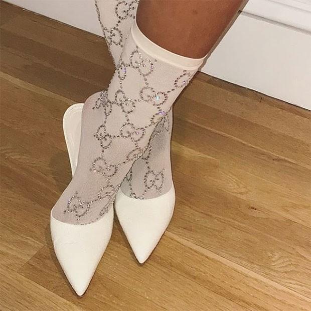 As meias Gucci escolhidas por RIhanna (Foto: Divulgação / Instagram)
