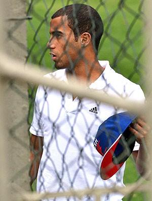 Lucas no treino do São Paulo (Foto: Luiz Pires / VIPCOMM)