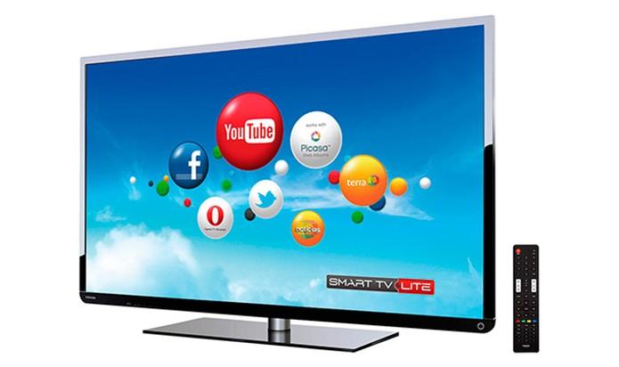 Smart TV Semp Toshiba oferece tela de 48 polegadas LED Full HD (Foto: Divulgação/Semp Toshiba)