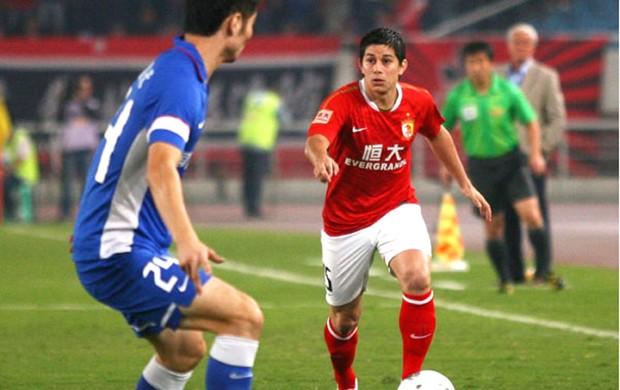 Conca, do Guangzhou Evergrande (Foto: Diego Ribeiro / site oficial do Guangzhou Evergrande)