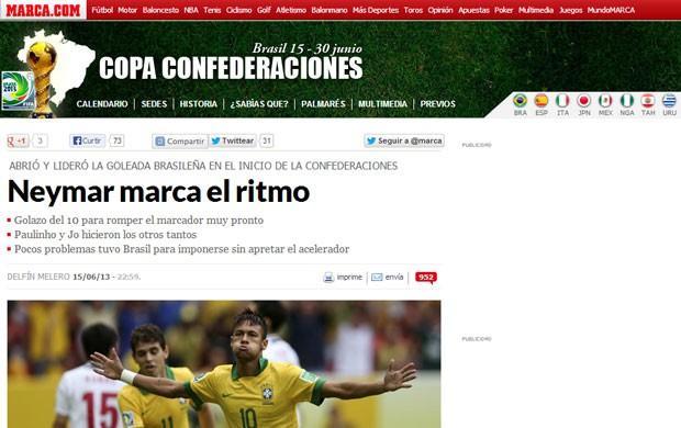 Reprodução marca repercussão brasil x japão (Foto: Reprodução/Marca.com)