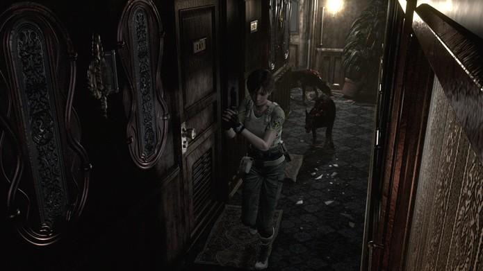 Resident Evil Zero HD Remaster: Cerberus causam poucos danos e muitos sustos (Foto: Divulgação/Capcom)