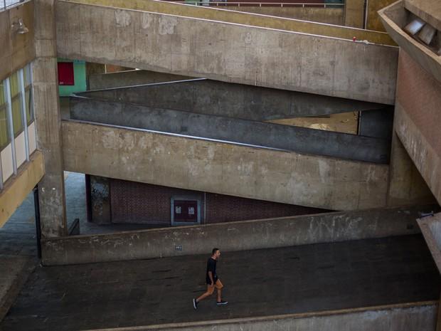 Escola Caetano de Campos, na Aclimação, foi ocupada por estudantes (Foto: Victor Moriyama/G1)