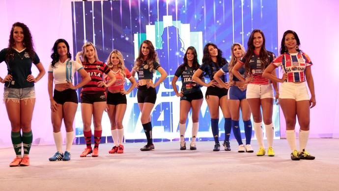 Musas do Goianão no palco da grande final (Foto: Divulgação / TV Anhanguera)