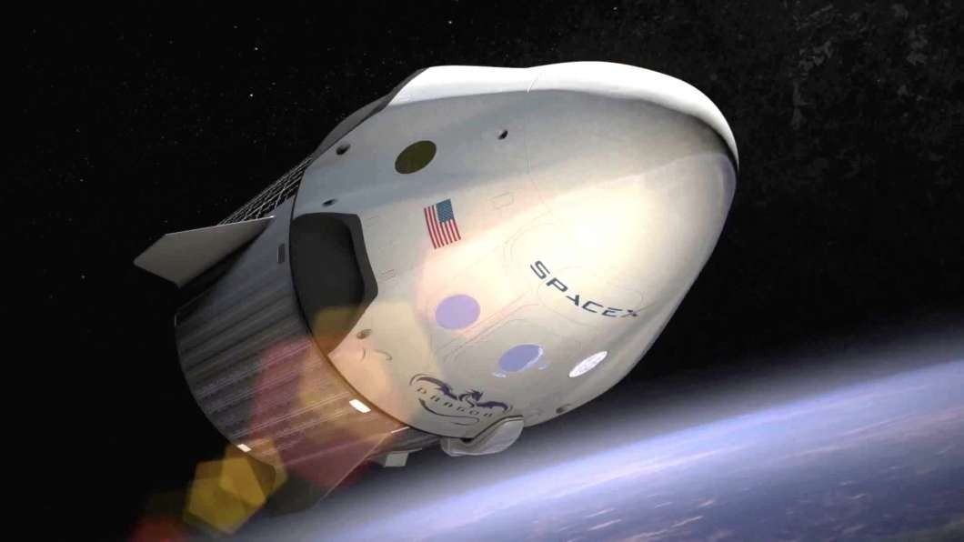 Espaçonave da SpaceX, empresa de Elon Musk (Foto: Divulgação)