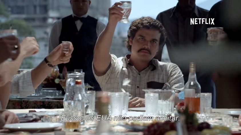 Trecho da série Narcos, do Netflix (Foto: Reprodução)
